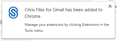confirmation Citrix Files added for gmail